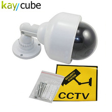 Outdoor Waterproof Red LED Fake Dummy PTZ Speed Dome CCTV Security Camera Blinking Flashing Light Dummy Dome Camera