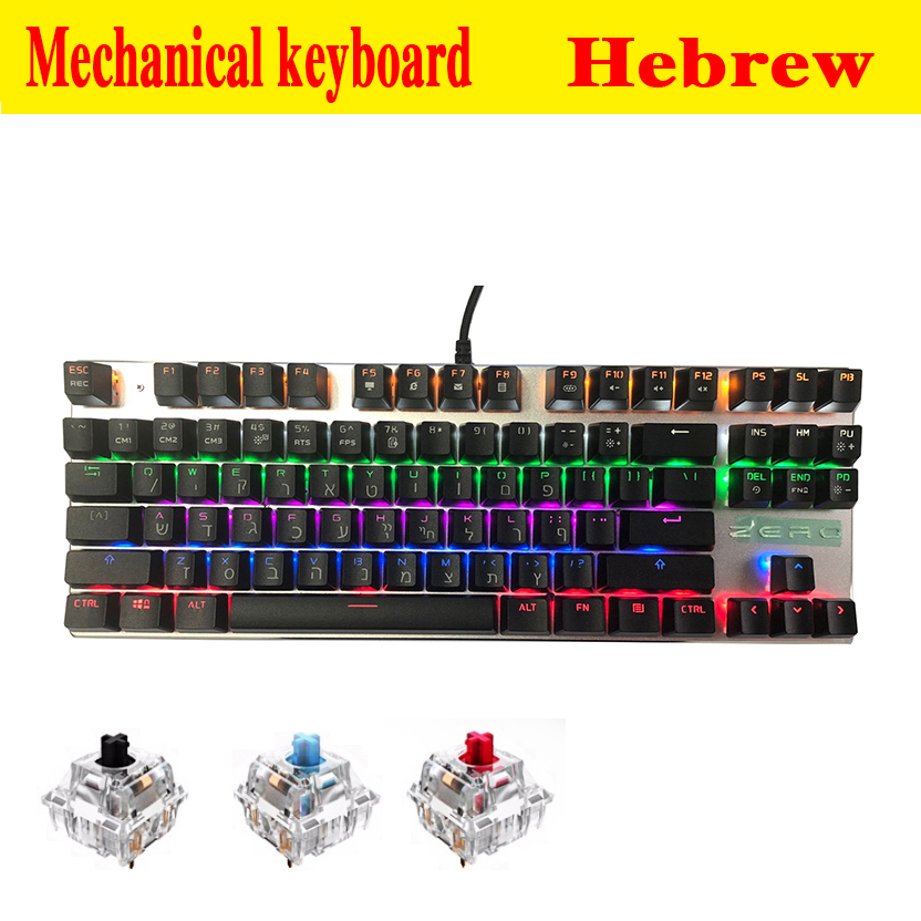 2018 NWE Metoo Edition Mechanical Keyboard 87 keys 104 keys Blue Switch Gaming Keyboards for Tablet
