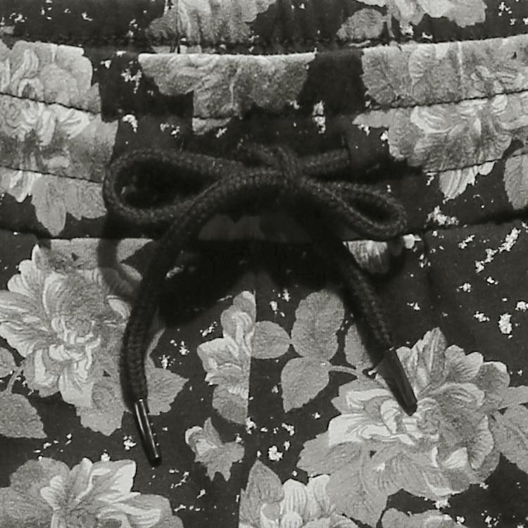 Men summer printed flower casual loose European style black quick dry shorts men cotton fashion New beach shorts hot sale K819