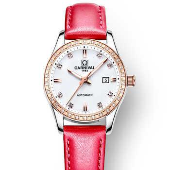 Switzerland Carnival Women Watches Luxury Brand ladies Automatic Mechanical Watch Women Waterproof relogio feminino 8685L-14