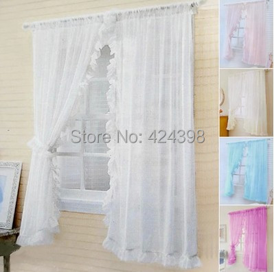 Aliexpress.com : Acquista Rustico set di tende per finestra letto mantello intorno tulle tenda ...
