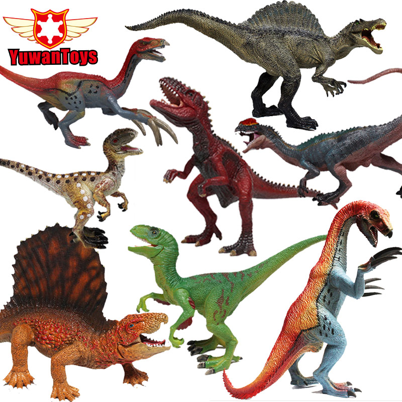 Jurassic Dinosaur Action Figures Toys Carnivorous Raptor Series Movable odel Hand Painted Lifelike Mandibles Can Move Boy Gift oenux jurassic carnivorous giganotosaurus t rex mouth can open pvc dinosaurs model action figures toys for boy s gift