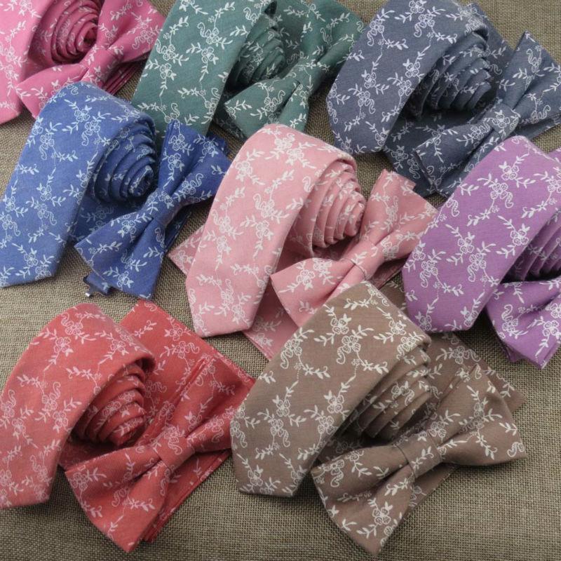 (1 set/lot)Tie mens narrow style leisure broken floral pattern 6 cm cotton and linen groom wedding fashion necktie gravata