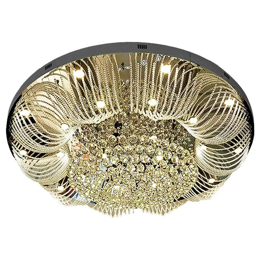 modern large crystal chandelier lighting AC110V 220V luxury living room lights wideth 100cm