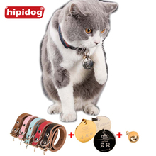Hipidog Personalized Tag Cat Dog Collar Bell Stainless Steel Dog Cat Free Engraving Accessories ID Tag Name Telephone Pet Collar