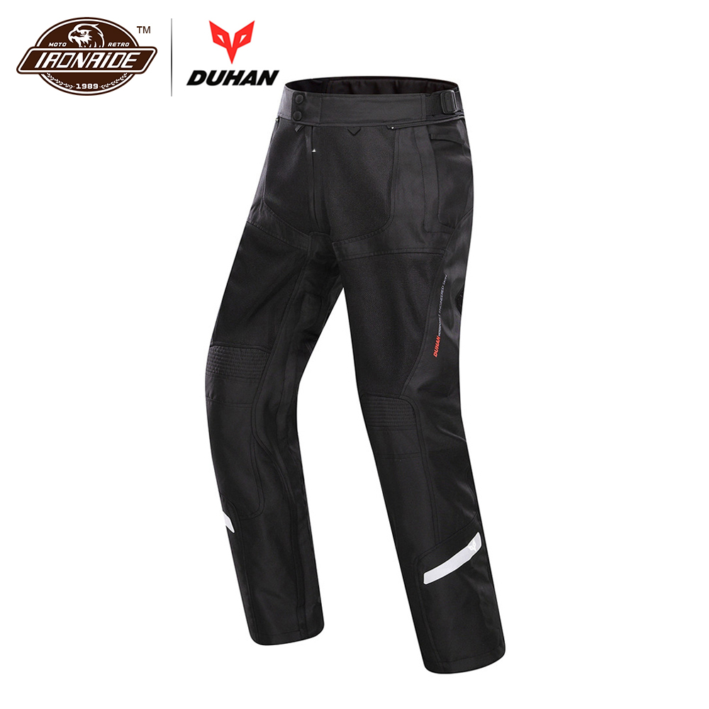 DUHAN Spring Summer Men Motorcycle Pants Moto Trousers Breathable Motorbike Motocross Pants Motorcycle Clothing Protective Gear hyperset noble hs6012