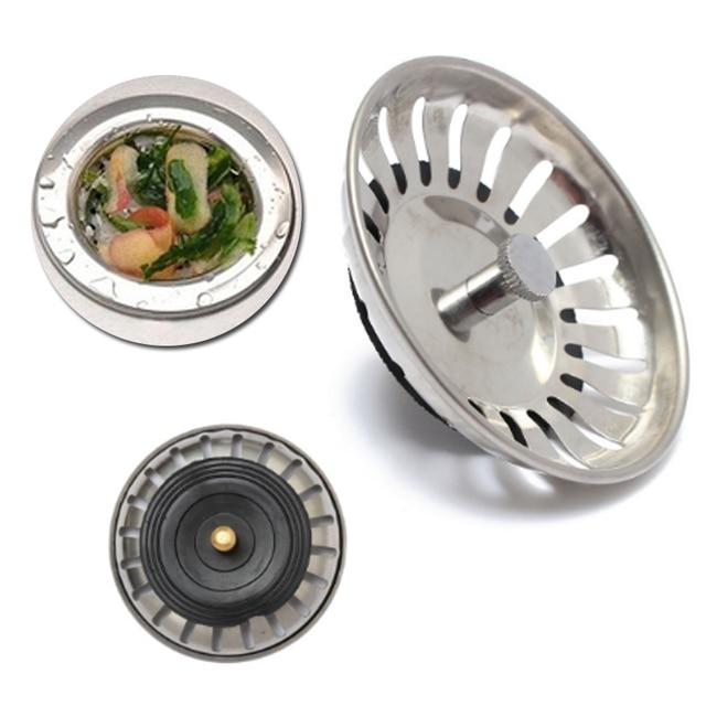 Waste Stainless Steel Sink Strainer Stopper Plug Drain Stoppers Filter Basket Kitchen Bathroom Hair Catcher
