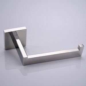 Image 2 - ローリングプロモーション高品質ウォールマウントクローム仕上げ 304 sus ステンレス鋼トイレロール紙ホルダー浴室アクセサリー