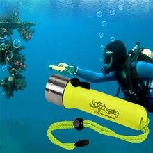 Светильник-вспышка для дайвинга, супер яркий светодиодный светильник для дайвинга 2000LM Q5, водонепроницаемая подводная вспышка для глубокого дайвинга, оборудование для подводного плавания