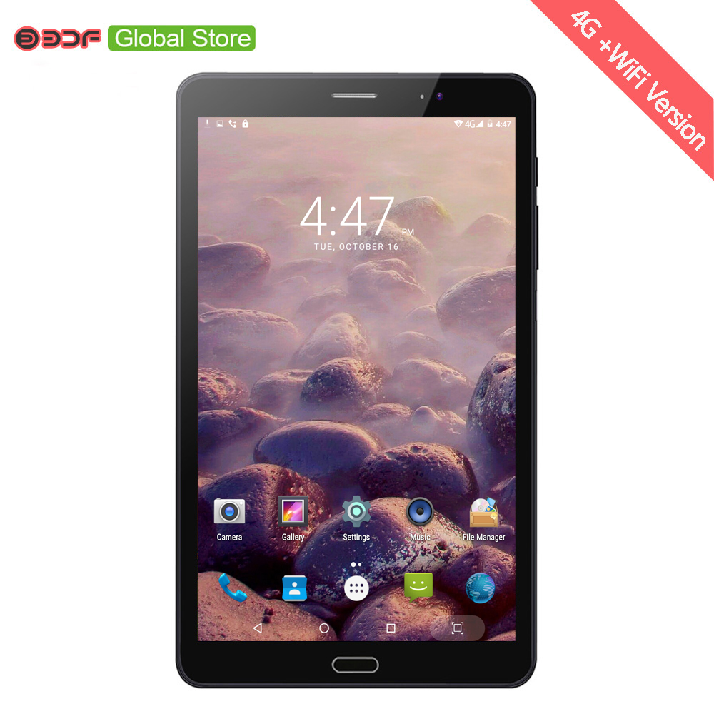 8 Inch 4G LTE Mobile Phone Call And Online Internet Tablets Pc 4GB+64GB Android 7.0 OS 5MP+12MP Duall Micro Sim Card 5000mAh