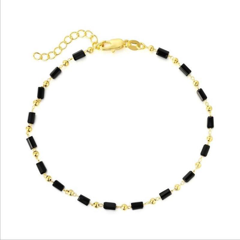 LUKENI New Fashion Female 925 Silver Anklets Jewelry Women Charm Crystal Red Girls Bracelets For Women Accessories Trendy Bijou