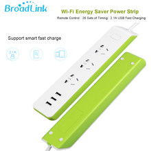 Broadlink oryginalny MP2 przełącznik WiFi 3G 4G wtyczka listwa zasilająca z USB 3-Outlet AU WB USA UE gniazdo adapter do Androida iOS pilot zdalnego kontroli(China)