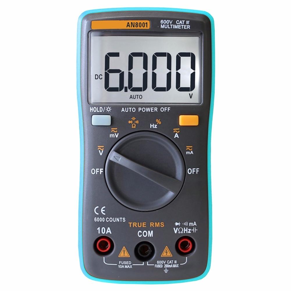 Digital Multimeter 6000 Counts Backlight AC/DC Ammeter Voltmeter Resistance Capacitance Ohm 6000 Multimeter Portable Meter valtery постельное белье mandy 1 5 спал