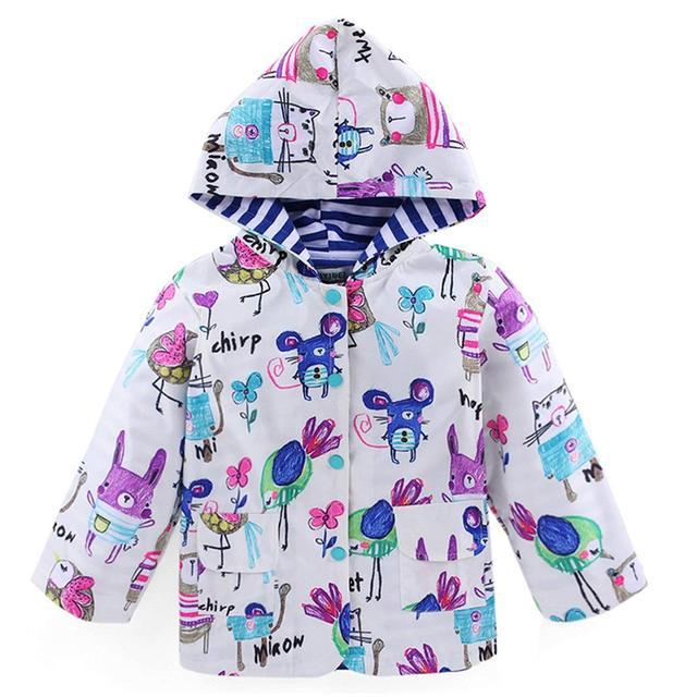 78f043ea530 Yuding Cartoon Waterproof Raincoat Animal Wind Resistant Kids Hooded Rain  Jacket Baby Girls Boys Toddlers Rainwear For Children