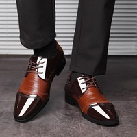 Patent Leather Dress Shoes - Lace Up Leather Lined 1