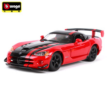 Bburago 1:24 Dodge Viper simulation alloy car model crafts decoration collection toy tools gift