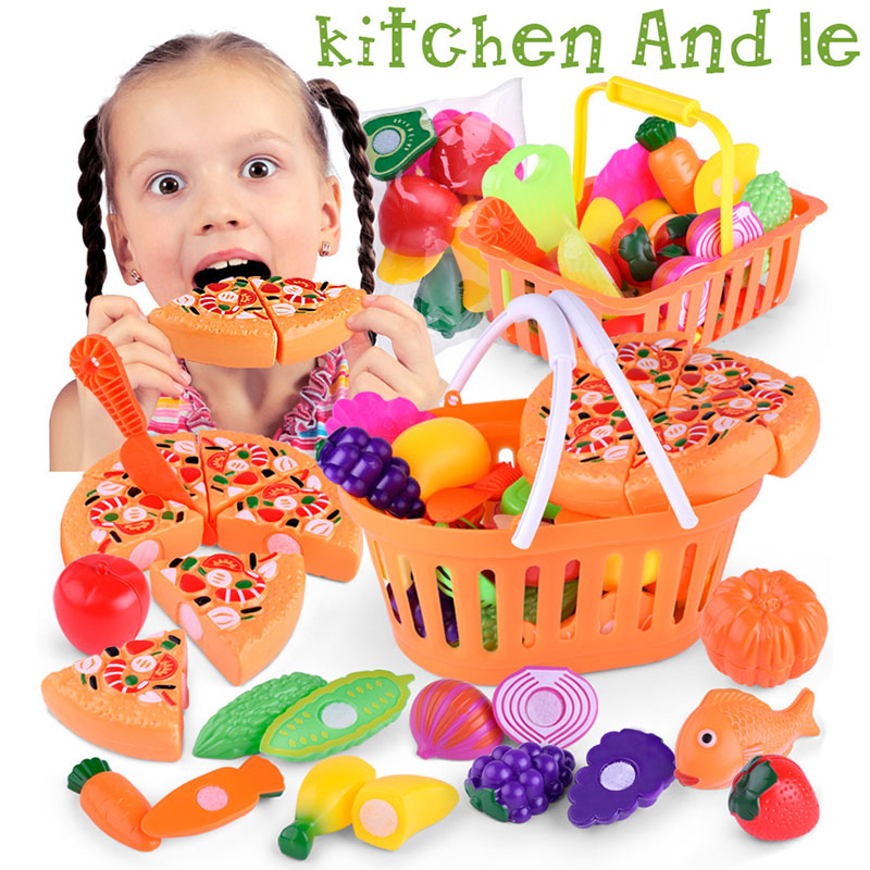 Image 4 - Hot Selling 1 Set Children Pretend Role Play House Toy Cutting Fruit Plastic Vegetables Food Kitchen Toys Gift Fun Game-in Kitchen Toys from Toys & Hobbies