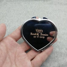 100set wedding favor Hot fashion Folding Double-sided Steel Makeup Mirror stainless steel quality custom free with any text/logo mantis boxing double peg stainless steel wushu weapon accept custom