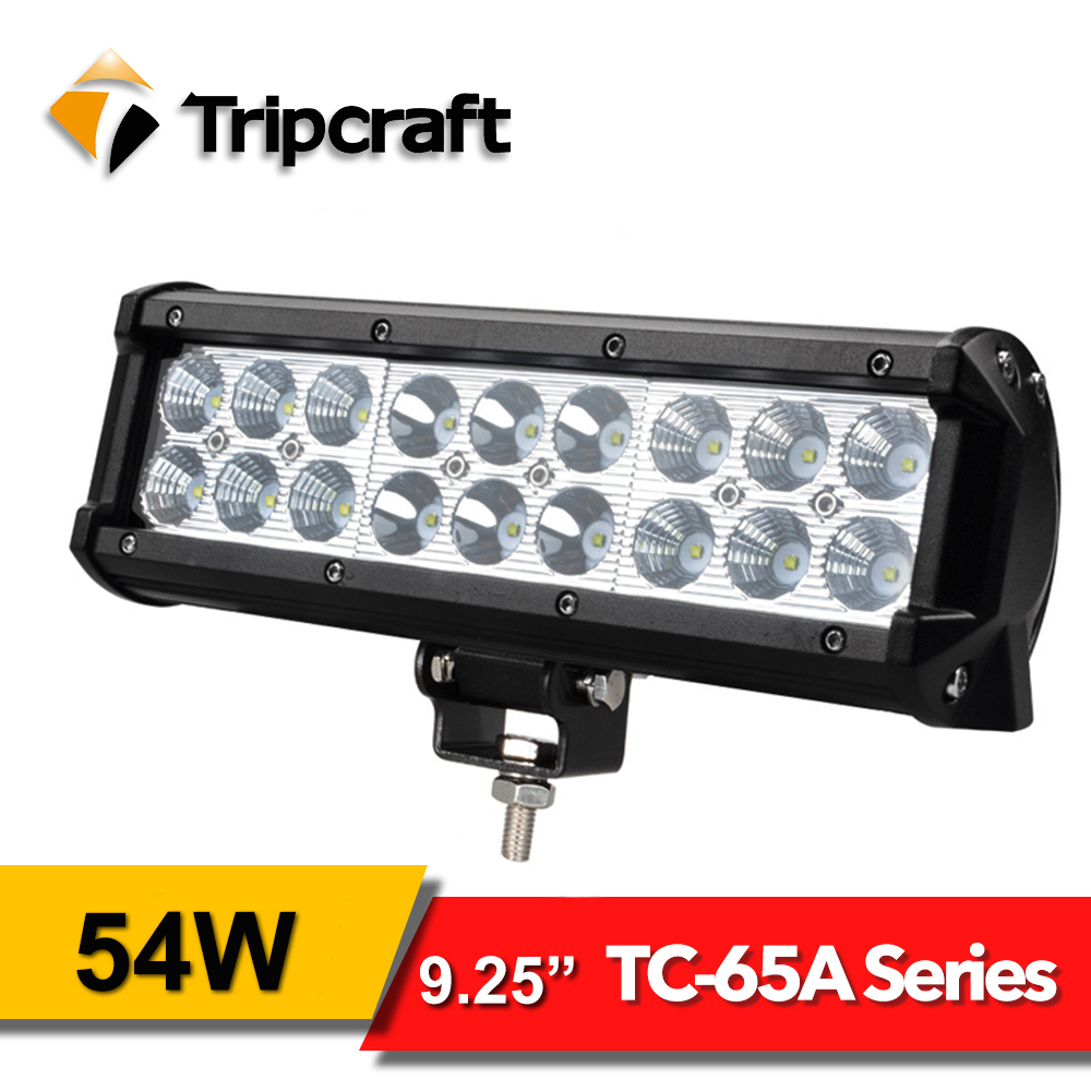 TRIPCRAFT 9.25&#8243; 54W <font><b>Led</b></font> Work Light Bar For Offroad Car Truck 4&#215;4 ATV 4WD SUV <font><b>rampe</b></font> 12V 24V 6500k Auto Driving Fog Lamp spot beam