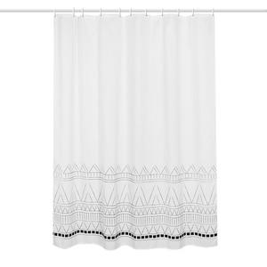 Image 5 - LIANGQI cortina de ducha gruesa con borla étnica, herramientas de baño, partición impermeable, cortina colgante de alta calidad, decoración del hogar
