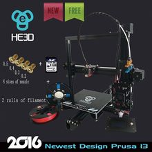 2016 Newest HE3D I3 Aluminium Extrusion reprap 3D Printer kit printer 3d printing 2 Rolls Filament 8GB SD card LCD As Gift