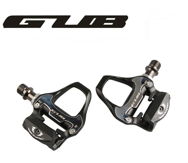 Livraison gratuite GUB 296g alliage de magnésium vélo de route pédales clipless avec 2 paires look keo Compatible crampons auto verrouillage pédale