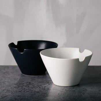 большие суповые тарелки | ANTOWALL Персонализированная матовая черно-белая чаша с насечкой Ramen чаша для лапши быстрого приготовления Посуда для ресторана Бытовая больша...