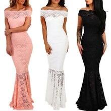 UK женское официальное длинное кружевное платье для выпускного вечера, вечеринки, подружки невесты, свадьбы