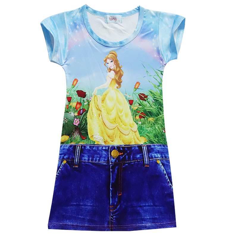 2017 Beauty and The Beast Girl Dress Baby Clothes Sets Moana Children Top Tees + Pants Suits Kids Clothing Party Princess Dress beauty and the beast teacher s book книга для учителя