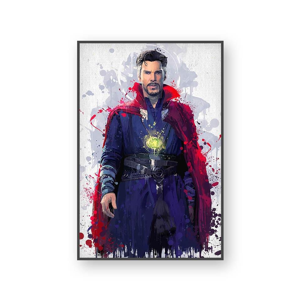 Настенный художественный холст с печатью постера, настенные картины для домашнего декора, Марвел, Мстители, фильм супергерой, Дэдпул, Железный Человек-паук, Локи - Цвет: L394E