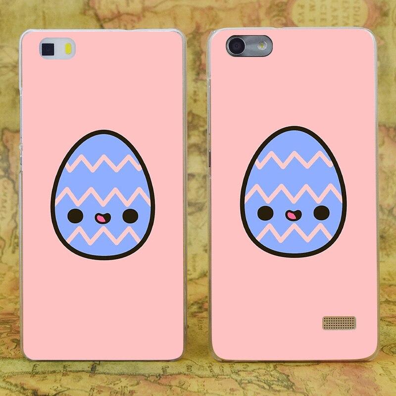 E3673 счастливый пасхальное яйцо прозрачный жесткий тонкой кожи, чехол для Huawei P 6 7 8 9 lite плюс Honor 6 7 4c 4x G7