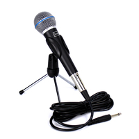Professional Beta 58A Cardioid Dynamic Mic Vocal Wired Microphone Holder With 6.5mm Jack Audio Cable For Computer Karaoke System