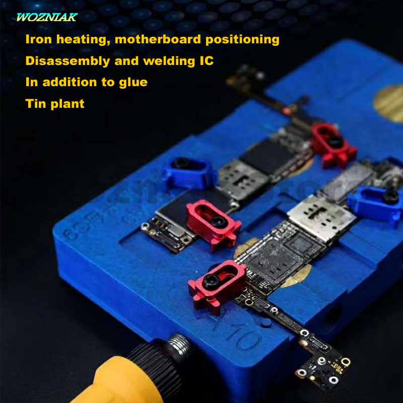 Wozniak Multi-function Intelligent soldering Iron Preheat platform for iphone 6s 7 Mainboard clamp a8 a9 a10 Disassemble IC Chip wozniak ppd w3120 a8 a9 a10 intelligent maintenance cooling platform motherboard fixture for iphone 6 6s 7 plus cpu bga reball