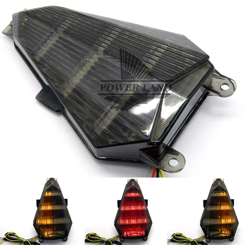 Free Shipping New Motorcycle LED Smoke Lens Integrated Mount Brake Light Turn Signal Tail Light Lamp For 2006-2007 YAMAHA YZF R6 for yamaha fz 09 mt 09 fj 09 mt09 tracer 2014 2016 motorcycle integrated led tail light brake turn signal blinker lamp smoke