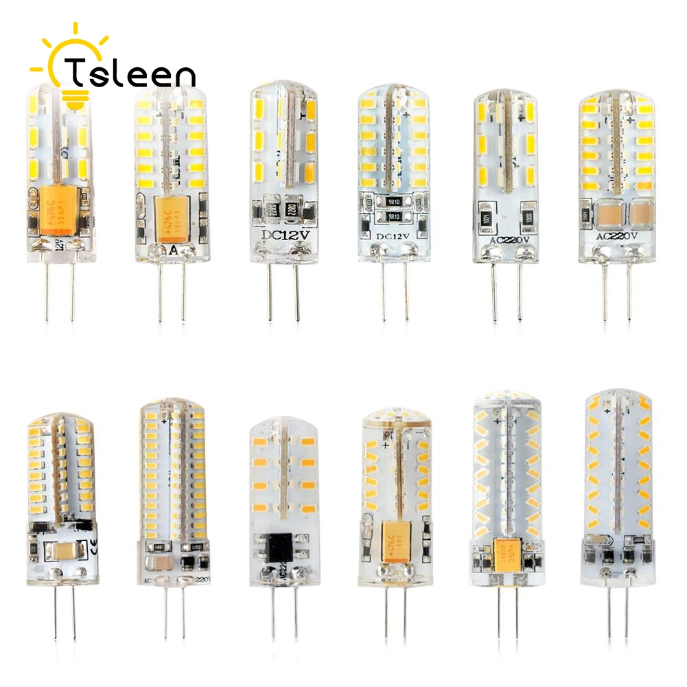 360 degree G4 LED 12V DC 12V AC DC 220V AC 3014 SMD Bulb Lamp 3W 5W 6W 8W 9W home shops offices studio and exhibition lighting in LED Bulbs Tubes from Lights Lighting