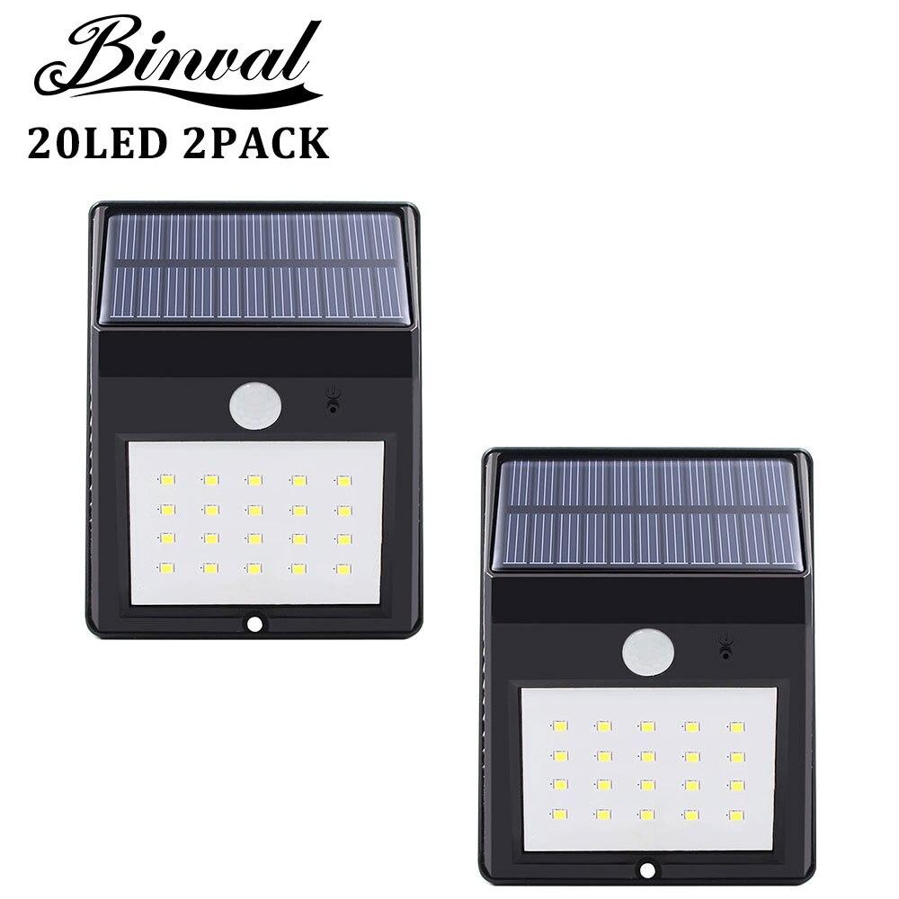 Solar Power Pir Lamp 20 LEDs Motion Sensor Outdoor Led Solar Light Bulb Waterproof Garden LED Lighting Solar Outdoor 2 Pieces