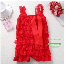 Baby Boys Girls Romper Newborn Lace Ruffle Petti brithday Romper Cute Baby Party Clothes Toddler Girls Fashion rompers clothes fashion newborn baby girls christmas ruffle red lace romper dress sister princess kids xmas party dresses cotton costume romper