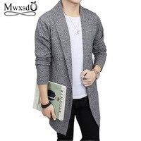 Mwxsd бренд для мужчин мягкий хлопок средней длины Кардиган тянуть homme трикотажные теплый зимний свитер осень мужской hombre ткань