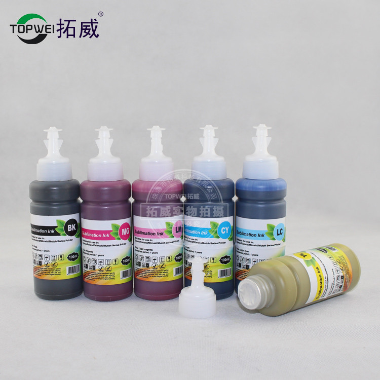 1 set 6 color 100ml Sublimation ink For Epson printer universal heat <font><b>transfer</b></font> ink for mug cup T-shirt phone case mouse pad