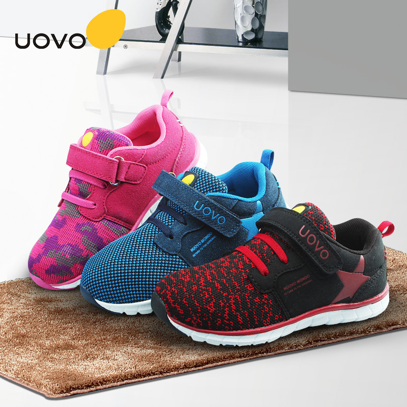 все цены на Uovo Brand Children Shoes Girls Sneakers Kids Shoes For Girl Mesh Breathable Casual Shoe Boys Sports Running Shoe Kids Trainers