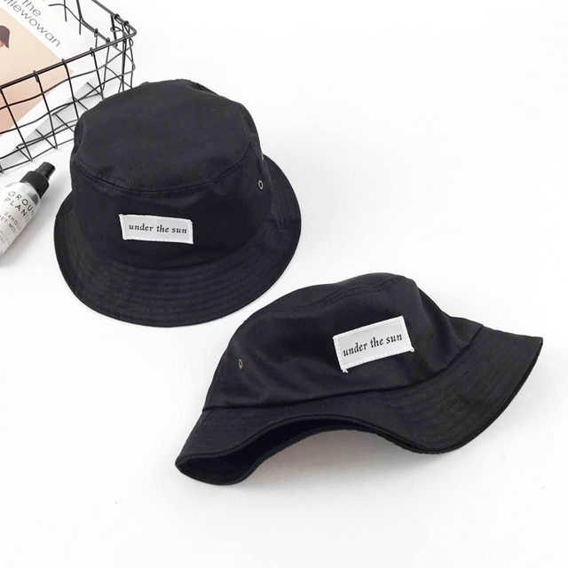 9927cebf 2018 Fashion under the sun Bucket Hat Letter sun Embroidery Fisherman Hats  Men Women Cotton Street Hip Hop Bucket Fishing Cap