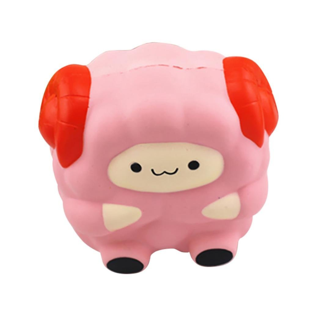 Jumbo 12CM Kids Soft Cute Sheep Squishy Toys Best Selling Squeeze Cream Scented Mobile Phone ...