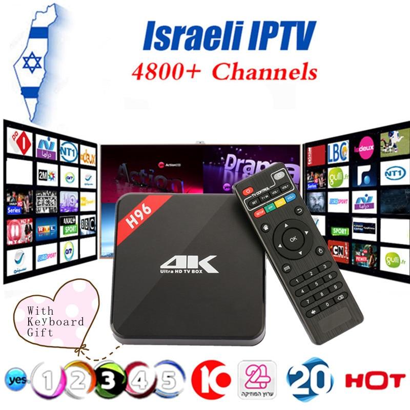 Israel IPTV H96 Android TV Box RK3229 Quad core CortexAndroid 6.0 TV Box HDMI 2.0 WIFI 4K 1080P H.265 Set Top Box Media Player scishion v88 plus tv box rockchip 3229 quad core android 5 1 wifi h 265 vp9 4k smart set top box media player pk v88 v88 pro x96