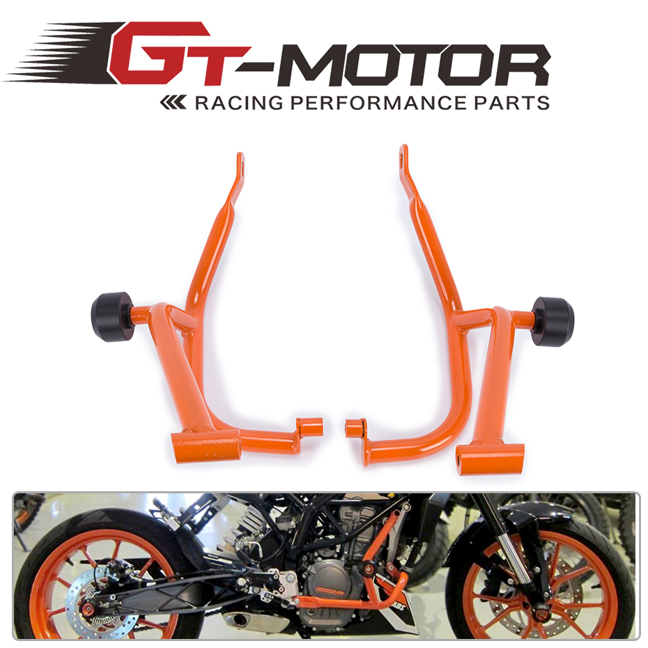 GT Motor - For KTM DUKE 200 DUKE200 Motorcycle Accessories Engine Protetive Guard Crash Bar Protector for ktm 390 duke motorcycle leather pillon passenger rear seat black color