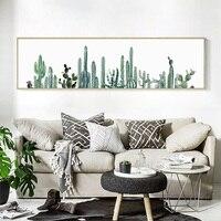 Acuarela suculentas lienzo impresión del arte pintura cartel conjunto cactus Wall imágenes para sala nordice decoración Decoración para el hogar