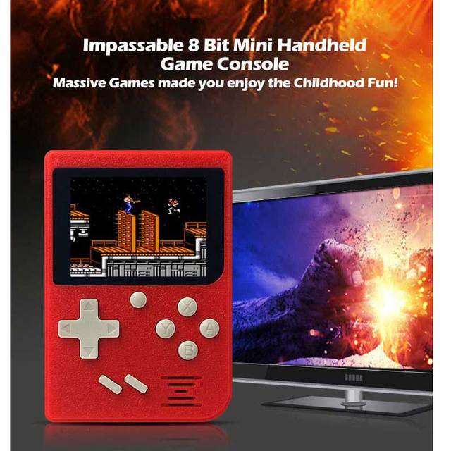 Retro Portable Mini Handheld Game Console 8-Bit 3.0 Inch Color LCD Kids Color Game Player Built-in 400 games 4