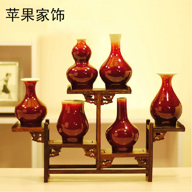 Ingdezhen Underglaze Red Porcelain Classical Vase Home