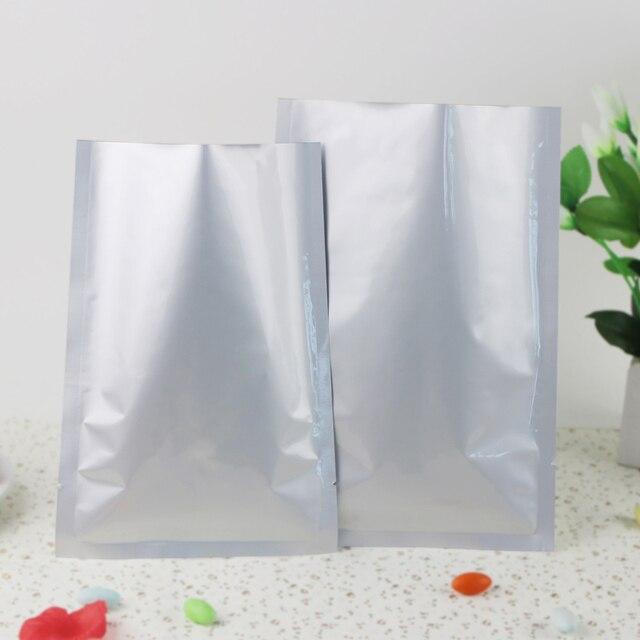 100pcs Lot 16x24cm Pure Aluminium Flat Bag Mylar Vacuum Farina Powder Cocoa Ng