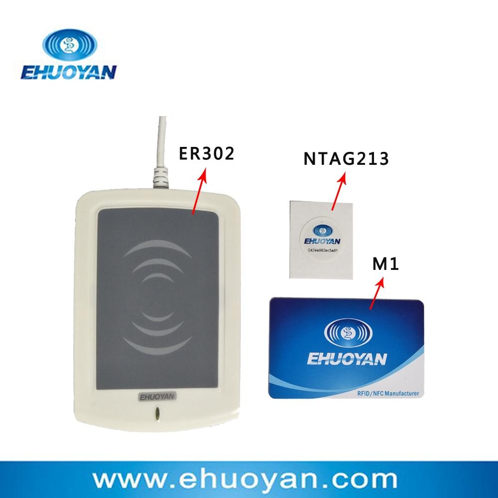 13,56Mhz ISO 14443 A Rfid Writer USB ER301 + SDK + szoftver eReader V10 + Címkék (frissítés ER302-re)