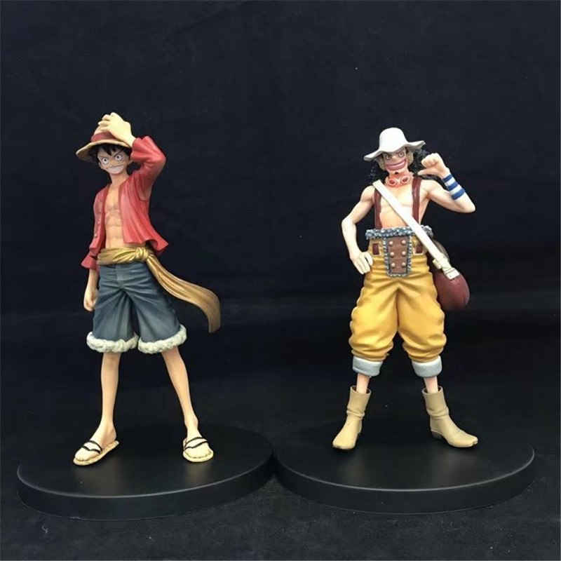 WVW 2pcs/Set Hot Sale Anime One Piece New World Luffy Usopp Model PVC Toy Action Figure Decoration For Collection Gift new hot christmas gift 21inch 52cm bearbrick be rbrick fashion toy pvc action figure collectible model toy decoration